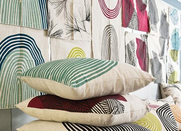 A collection of Doonyaya pillow designs. - DEBORAH DEGRAFFENREID