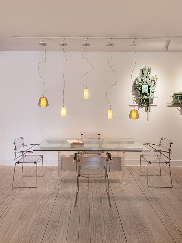"Gillette's showroom includes Design on Demand ""Etica"" pendant lights by the Italian designer Daniele Gualeni. - DEBORAH DEGRAFFENREID"