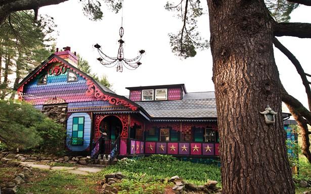 "Friends helped paint the house's colorful exterior. O'Sullivan never plans her designs: ""I always just know what color should come next,"" she says. - DEBORAH DEGRAFFENREID"