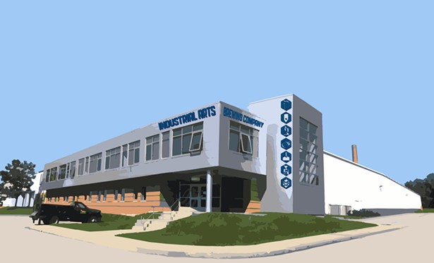 A rendering of Industrial Arts new Beacon brewing facility and taproom.