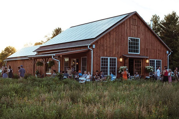 The taproom and brewing facility at Arrowood Farms in Accord.