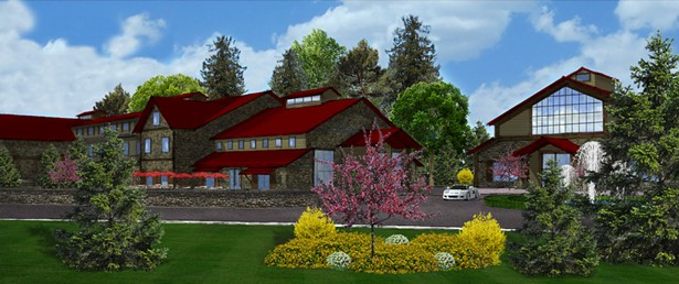 A rendering of Wildberry Lodge