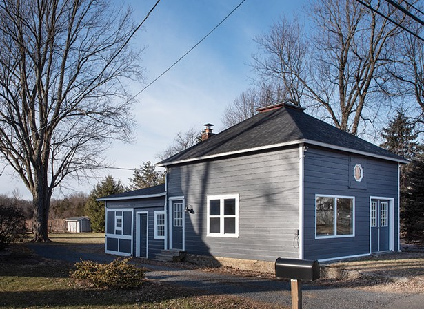 """The recently renovated carriage house.It's the perfect example of the couple's talent and tendency for creative reuse.Rodabaugh begins her book with a quote from Arthur Ashe: """"Start where you are.Use what you have.Do what you can."""""""