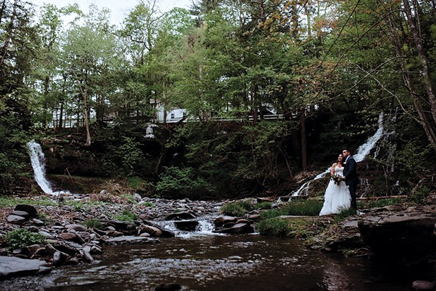 Waterfalls at the Glens Falls House in Round Top. - PHOTO BY SAMANTHA JUNE ARIUS PHOTOGRAPHY