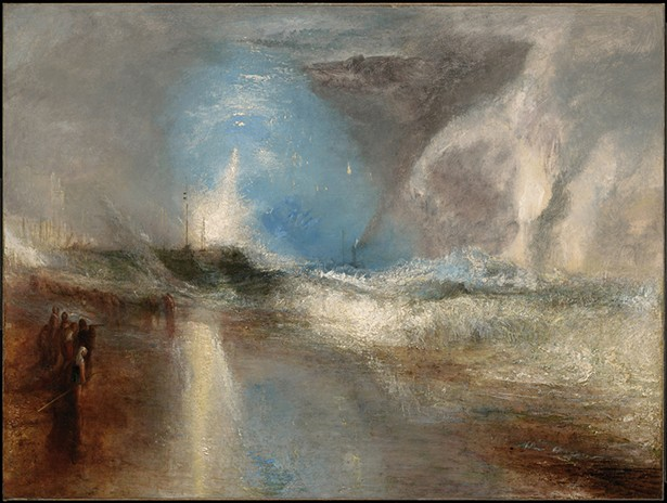 Rockets and Blue Lights (Close at Hand) to Warn Steamboats of Shoal Water, Joseph Mallord William Turner, 1840, oil on canvas, 36 1/4 x 48 1/8 in.