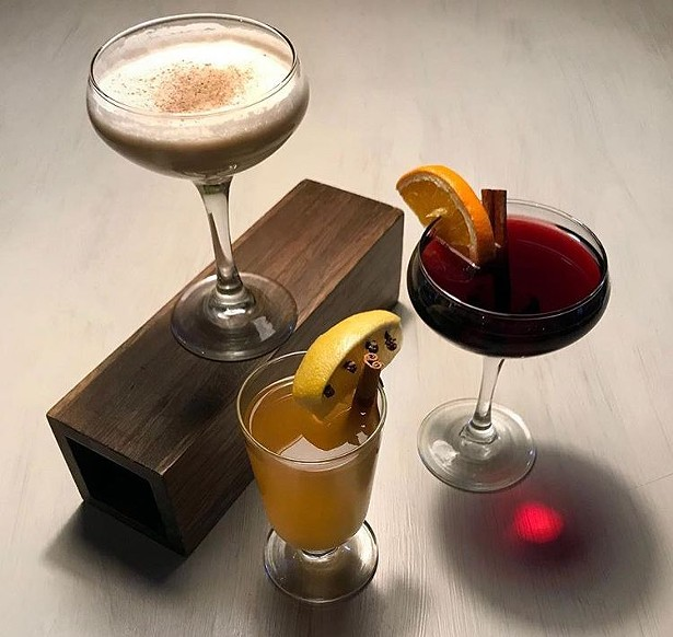 A trio of winter cocktails from Trotwood at Glen Falls House.