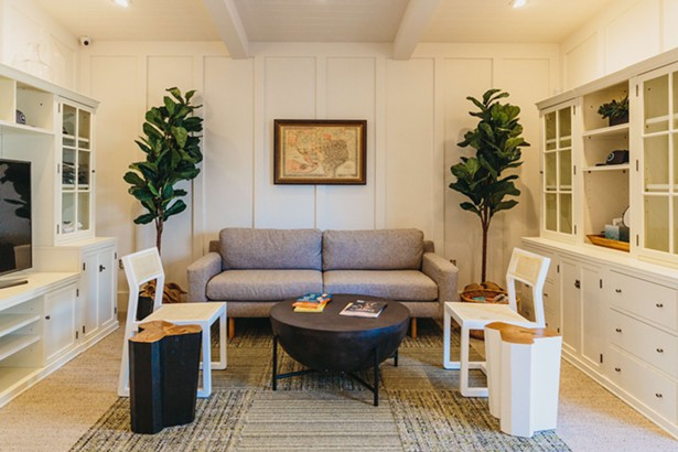 The 350-sq.ft. lobby and dispensary area of TOCC were designed to instill the comforts of a residential living room.