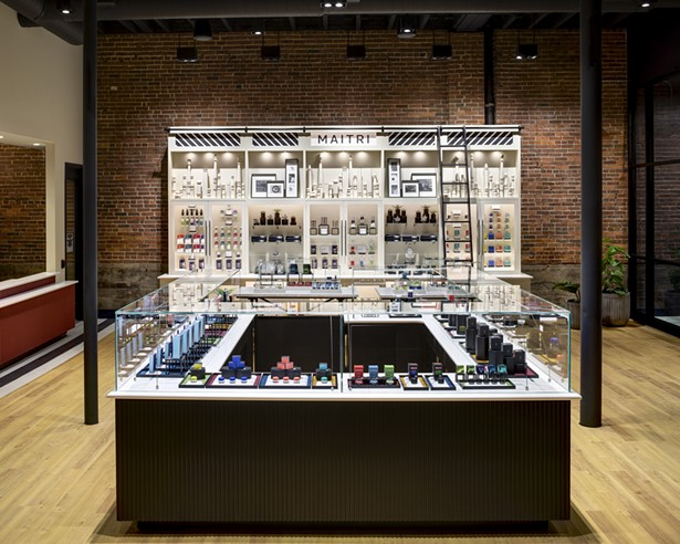 A comprehensive visual merchandising strategy at Maitri - in Uniontown, PA reinforces the mission and complements the overall design direction in order to create a holistic store experience. - RICHARD CADAN