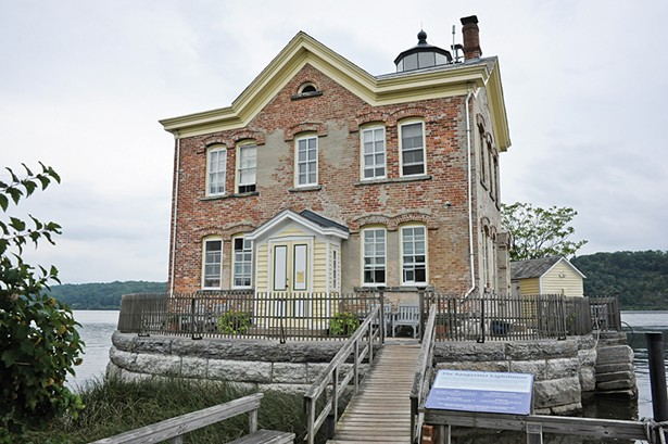Closed in 1954 and fallen into disrepair, the Saugerties Lighthouse is now on the - National Register of Historic Places and operates as a bed and breakfast. - PHOTO BY JOHN GARAY