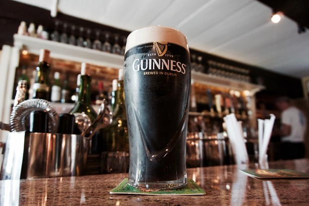 A pint of Guinness at Garvan's