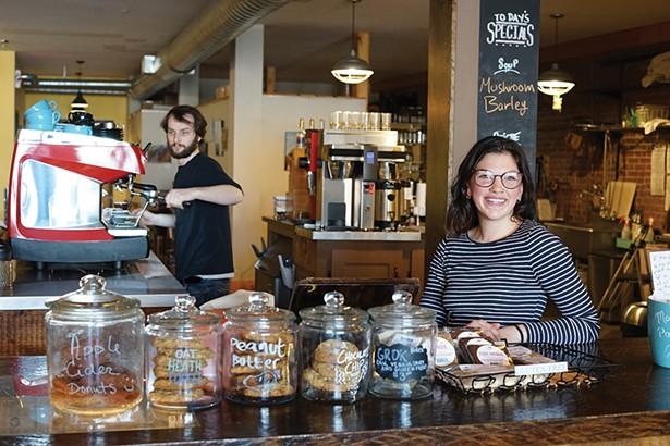 Justin Hastey and Rebecca Nissen at 2 Alice's Coffee House - PHOTO: JOHN GARAY