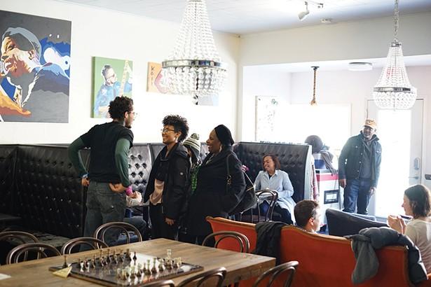 Marcelis, Maiya, Doris, Micah and Courtland at Blacc Vanilla - PHOTO: JOHN GARAY