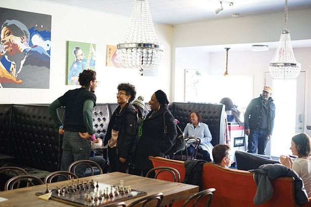 Marcelis, Maiya, Doris, Micah and Courtland at Blacc Vanilla - PHOTO: JOHN GARAY