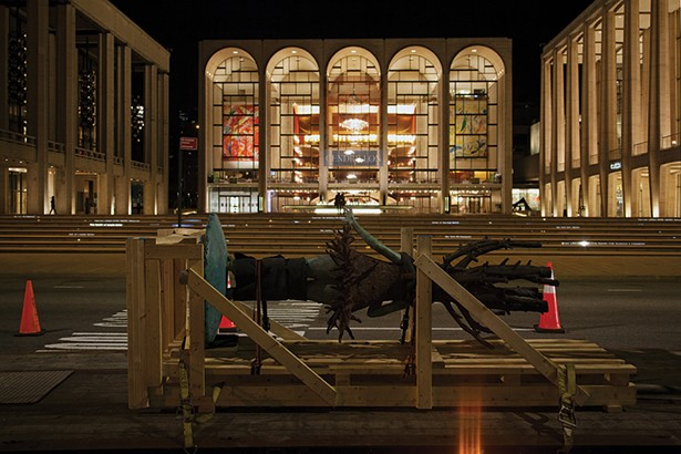 All the World's a Stage in transit and on 64th Street in Manhattan. - PHOTO: FIONN REILLY