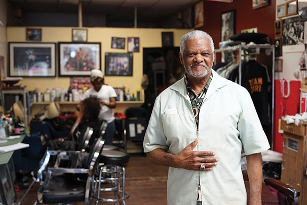 Deacon Alvin Bell at Main Street Beauty Salon. - PHOTO: JOHN GARAY