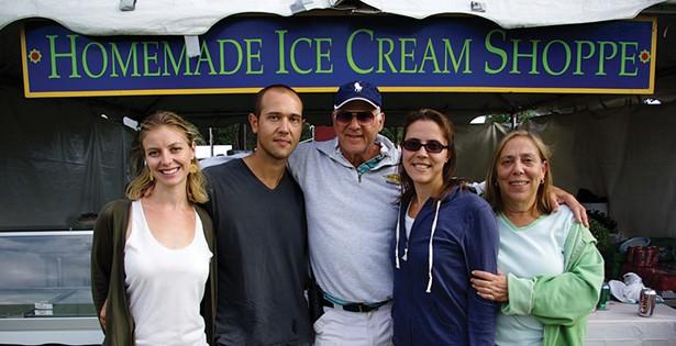 The Rubinstein family at the fair.
