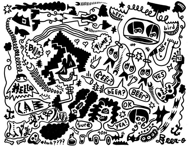 Site-specific collage by Pablo Galesi, GARNER resident artist