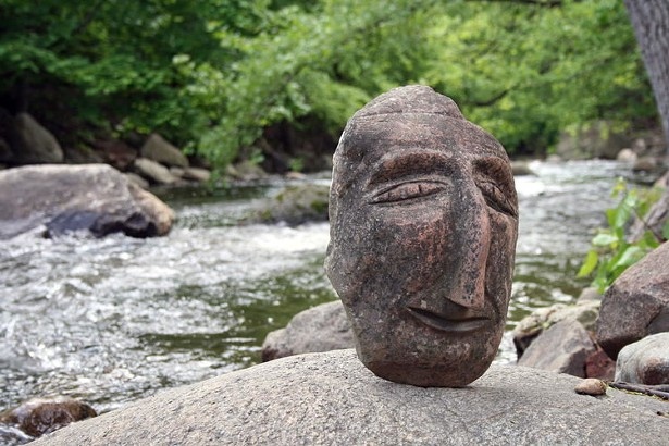 A Ted Ludwiczak piece on the Creekside Sculpture Trail at Garner Arts Center.