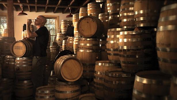 Brand ambassador Ralph Erenzo tasting product at Tuthilltown Spirits Distillery in Gardiner.
