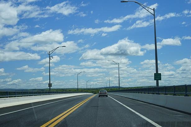 Rhinecliff Bridge, approaching Dutchess County. - PHOTO: JOHN GARAY