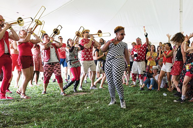 Extraordinary Rendition Band at the 2018 Hudson Valley Brassroots Festival. - PHOTO: GREGORY ORTIZ, PIX BY PAPI