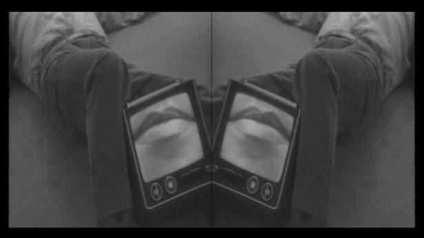 Nil Yalter, Le Chevalier d'Éon, 1978 (detail) 7 photographs, 2 paintings: acrylic on paper, 2 Polaroids, video. Detail: video still © Nil Yalter - PHOTO: NIL YALTER