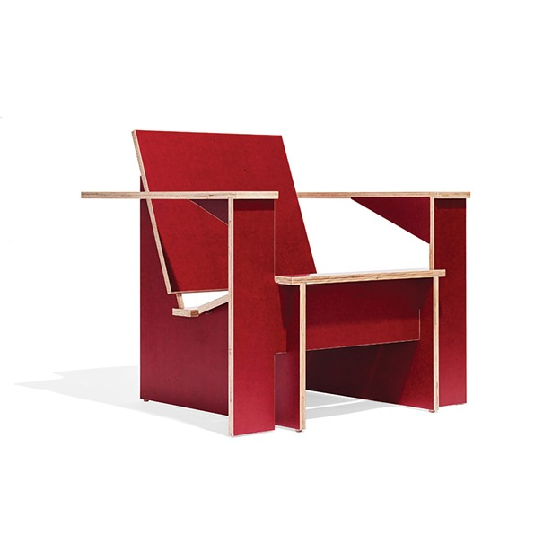 The F2 plywood lounge chair designed by Ken Landauer, owner of FN Furniture. The chair was first produced for the Tang Museum in Saratoga Springs and uses only half a sheet of plywood.