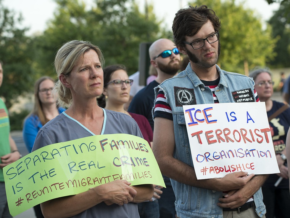 """""""Lights for Liberty: A Vigil to End Human Detention Camps"""" - PHOTO BY FLICKR USER FIBONACCI BLUE"""