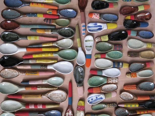 Shino Takeda's ceramic spoons.