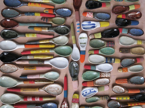 Shino Takeda's ceramic spoons.