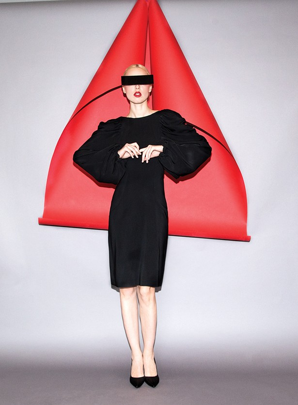 Ira Pavlova models clothing designed by - Marist fashion student Sarah Rexford '20. - PHOTO: RACHEL BRENNECKE