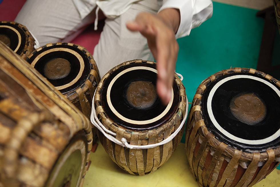 This beautiful, ancient instrument, known as the pat waing, comes from Burma. - PHOTO: FIONN REILLY