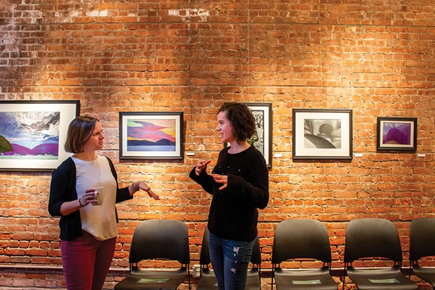 Beacon Instutue for Rivers & Estuaries Education Coordinator Brigette Walsh and Jordy Meltzer of Chronogram. - PHOTO: ANNA SIROTA