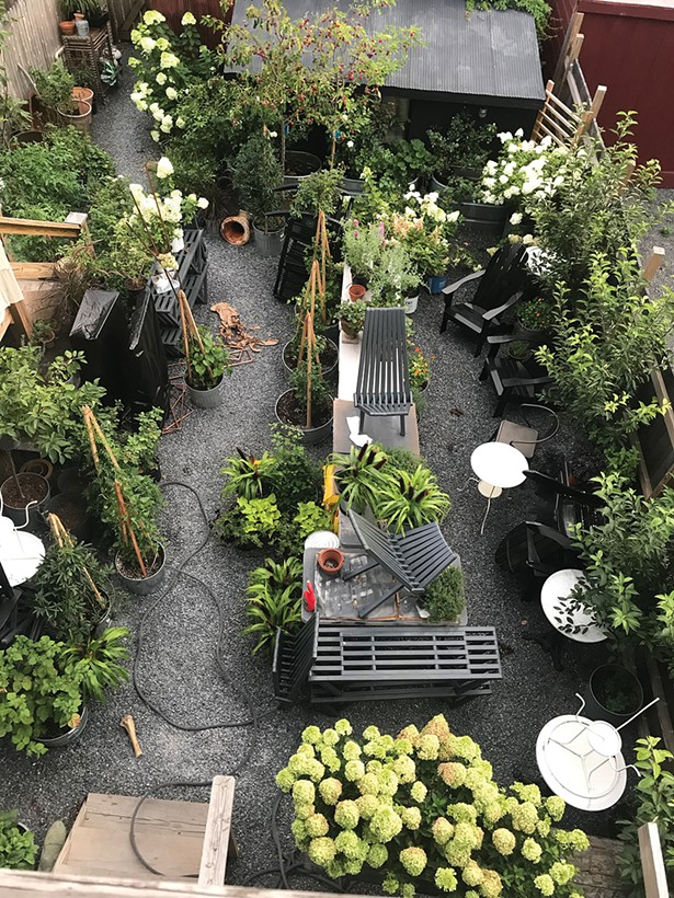 Home/Made's Byrne and Swenson are in-demand wedding caterers and - floral arrangers. They use the restaurant's back garden as a prep space.