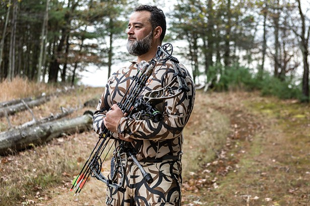 Leon Vehaba, is the farm manager at Poughkeepsie Farm Project and holds a master's degree in sustainable development. He took up hunting because he wanted to be more involved in the production of the meat he consumed. - PHOTO: WINONA BARTON-BALLENTINE