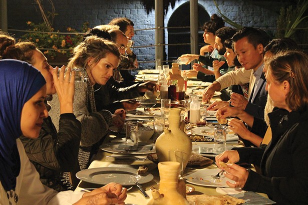 Photos from The Table, an interactive food - installation, part of Everyday Forms of Resistance Assembly, at Ujazdowsku Castle for Contemporary Art, Warsaw, Poland. October 5, 2019.
