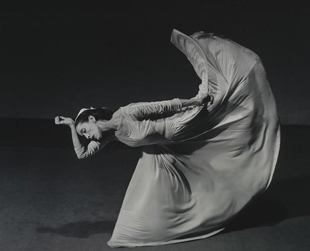 "Barbara Morgan's 1940 photograph Martha Graham Letter to the World (Kick), part of the ""Shape of Light"" exhibition at the Frances Lehman Loeb Art Center at Vassar College through December 15."