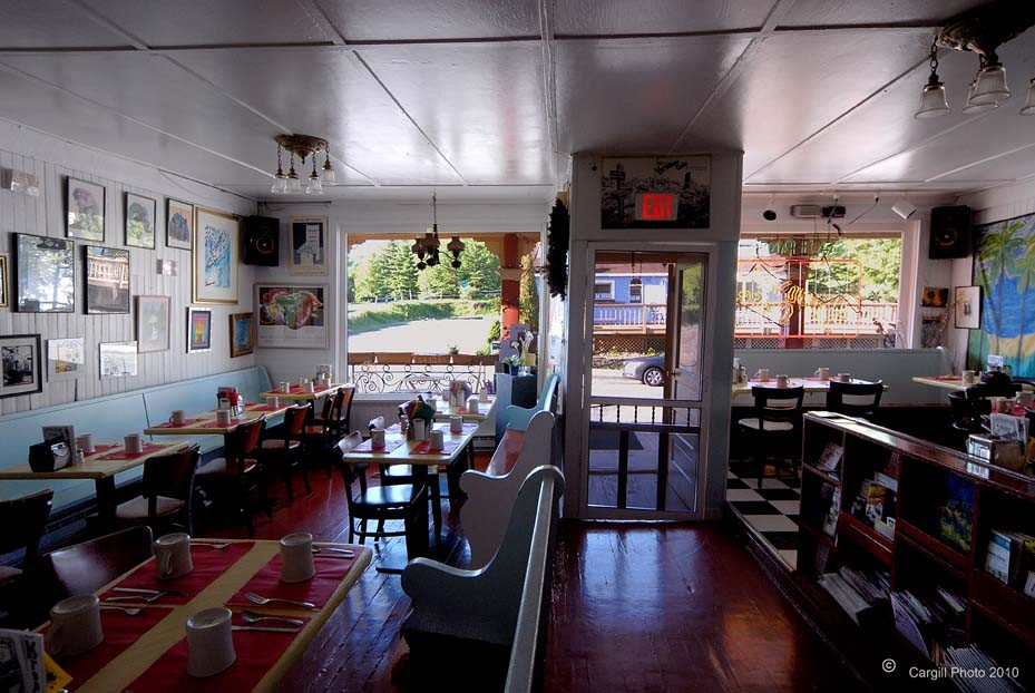 The dining room at Maggie's Krooked Cafe in Tannersville - CARGILL PHOTO, COURTESY OF MAGGIE'S KROOKED CAFE