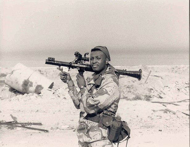 Malcolm Nance in Kuwait City, 1991, Operation Desert Storm.
