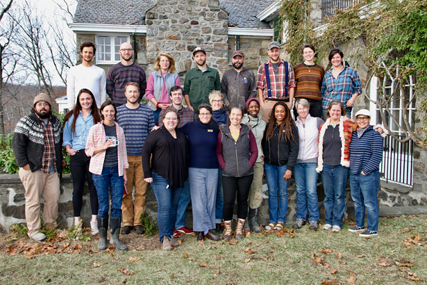 15 new and beginning farmers in Glynwood's Farm Business Incubator Cohort gather to recap the growing season.