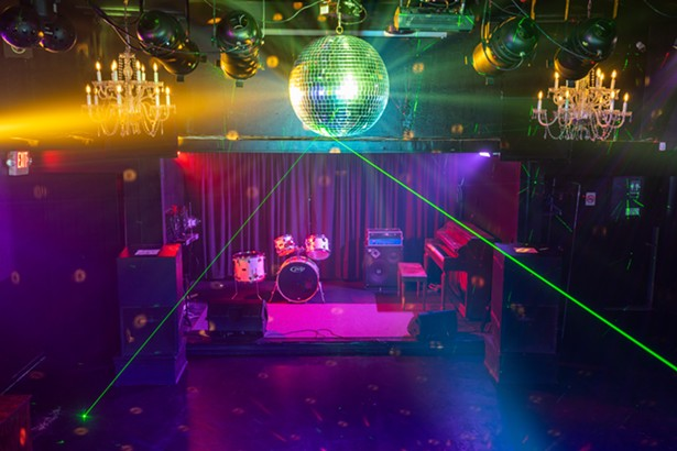 The live music room has a stage and DJ booth. - ALON KOPPEL