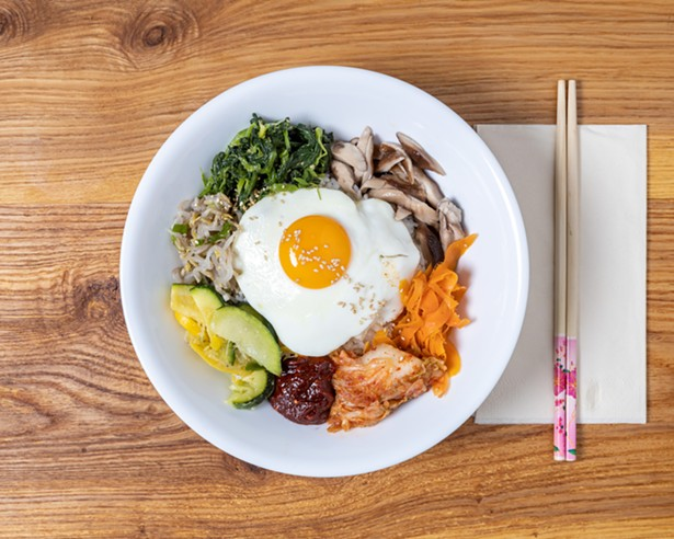 Traditional Korean fare is the specialty of resident chef Annie. - ALON KOPPEL