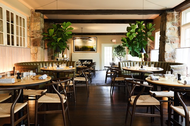 The dining room at Troutbeck.