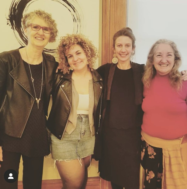 Artists Carole Kunstadt, Kat Howard, Jena Argenta and Nini.de la Torre.