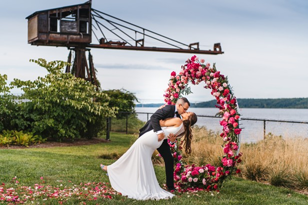 Floral Alter at Hutton Brickyards in Kingston. - PHOTO: NICOLE WAGNER / CUSTOM BY NICOLE