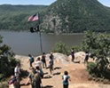 The view west across the Hudson River from the top of the trail on Breakneck Ridge.