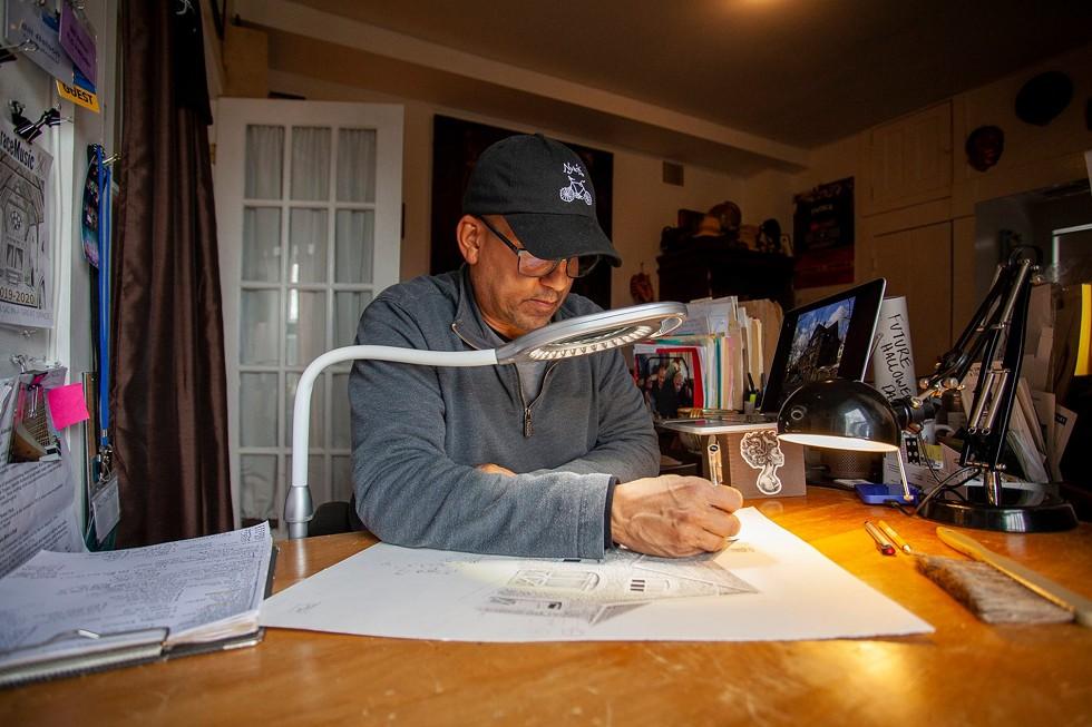 Bill Batson in studio