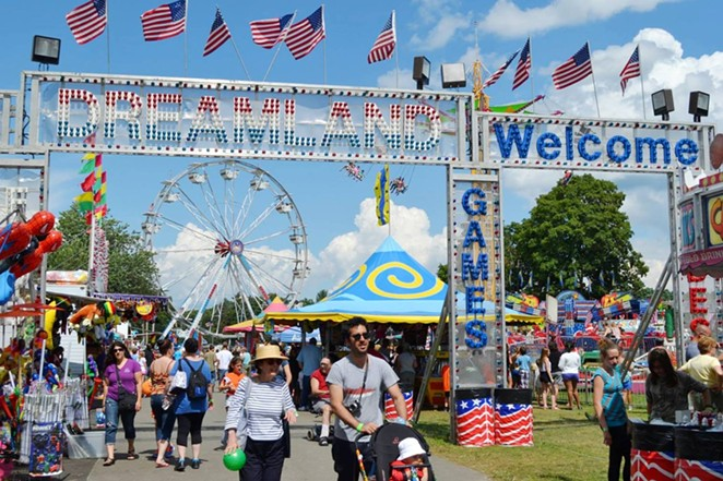 The midway features rides, games and fair food for the whole family.
