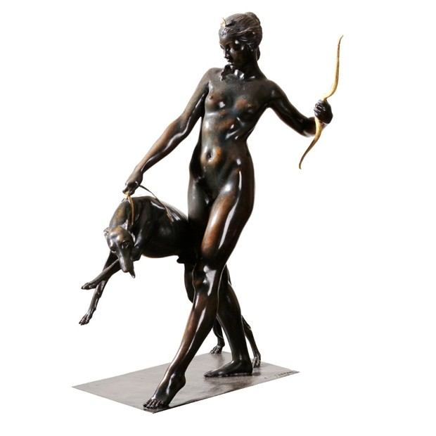 Edward Francis McCartan (1879-1947) Diana and the Dog, 1923 Sand cast copper alloy (bronze) Gift of Bartlett Arkell, 1925