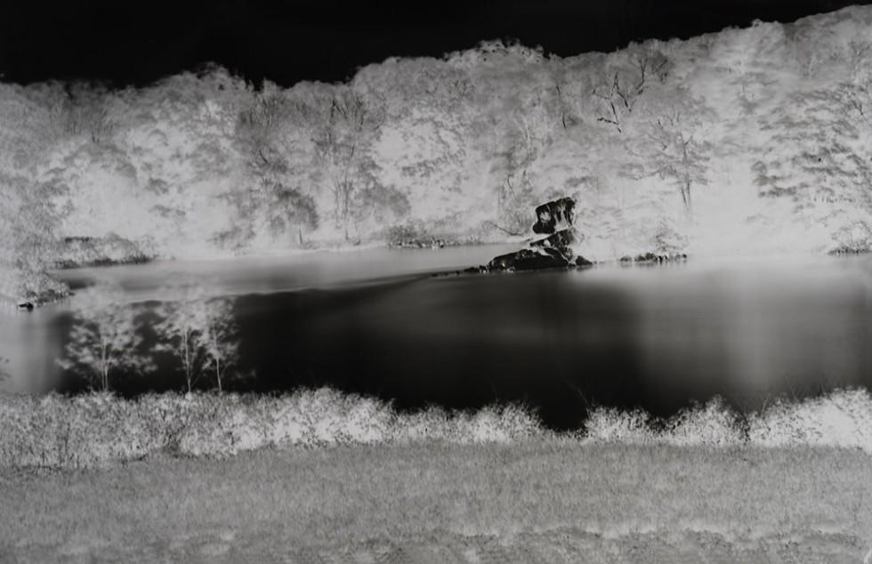 Shi Guorui, Catskill Creek, May 21 2019, unique camera obscura gelatin silver print, 69 x 45 in.